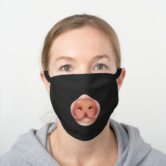 Cool Pig Mouth Black Cotton Face Mask