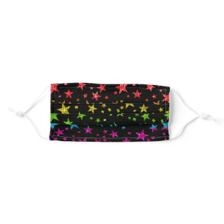 Cool Rainbow Glitter Stars Summer Fun Gay Pride Adult Cloth Face Mask