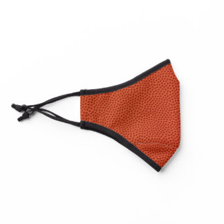 Cool Realistic Looking Basketball Leather Texture Premium Face Mask