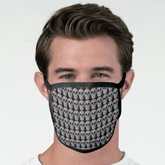 Cool Skull Head Grey Black Gothic Pattern Face Mask