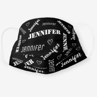 Cool Word Art Cloud Your Name Personalized Black Cloth Face Mask