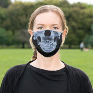 Cool X-Ray Skull Adult Cloth Face Mask
