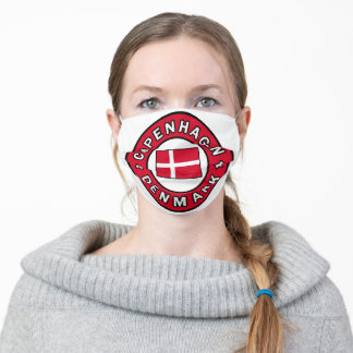 Copenhagen Denmark Adult Cloth Face Mask