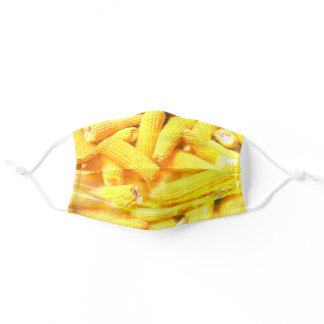 Corn Cobs Buttery Yellow Vegetable Photograph Adult Cloth Face Mask