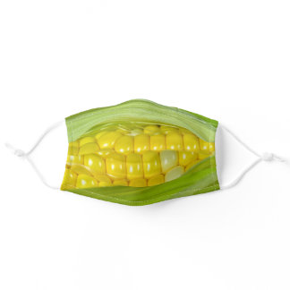 corn on the cob adult cloth face mask