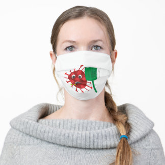 Coronavirus Slapped in the Face - Funny Art Adult Cloth Face Mask