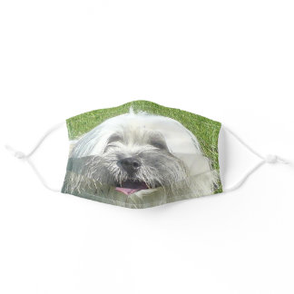 coton de tulear adult cloth face mask