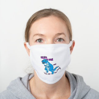 Cotton Face Mask - T-Rex Feed Me