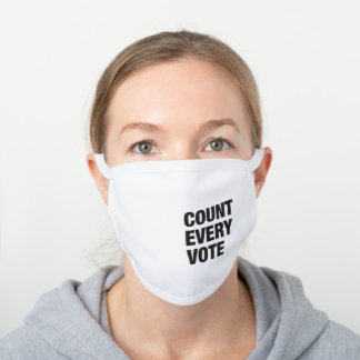 Count Every Vote Mask - White