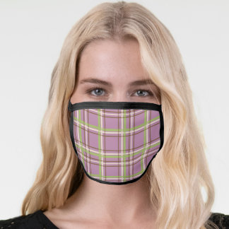 Country Garden Plaid Face Mask
