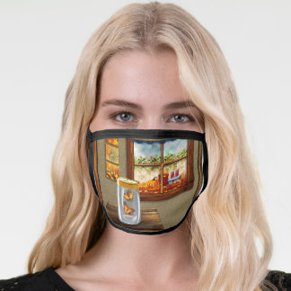 Country Room Allover Print Face Mask