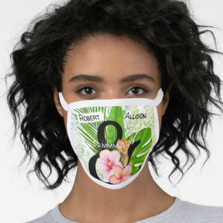 Couples tropical Big day cute Poly Blend covid Face Mask