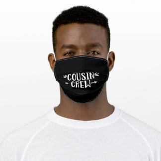 Cousin Crew - Best Cousin Squad Adult Cloth Face Mask