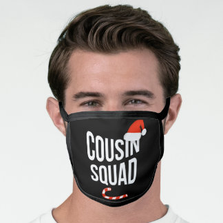 Cousin Squad: Funny Design Elf Christmas Face Mask
