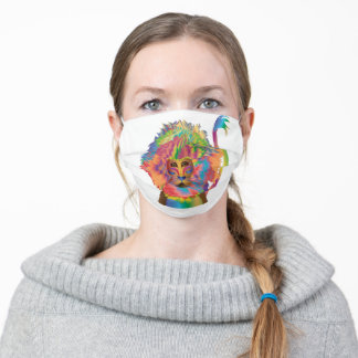 COVID-19 COLORFUL LION IN KALEIDOSCOPE COLLECTION ADULT CLOTH FACE MASK