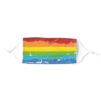 Covid-19   Gay Pride Rainbow Pattern Adult Cloth Face Mask