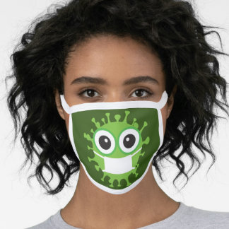 Covid cartoon virus face mask