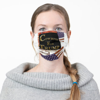 COWBOYS FOR TRUMP ADULT CLOTH FACE MASK