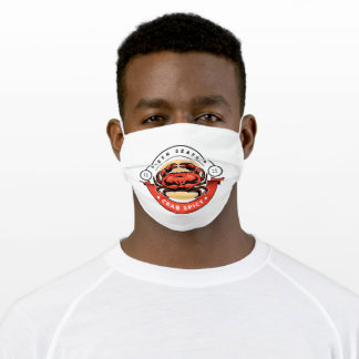 Crab of seafood adult cloth face mask