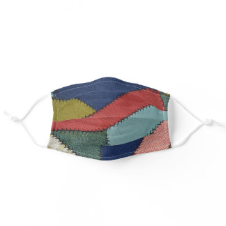 crazy quilt pattern adult cloth face mask