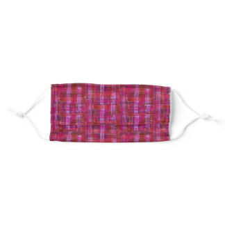Crazy Red Plaid Face Mask