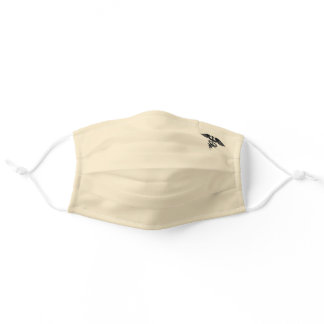 Cream, Beige or Ecru - Caduceus Symbol Adult Cloth Face Mask