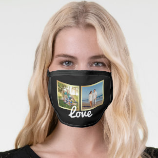 Create Your Own Family Photo Collage Face Mask