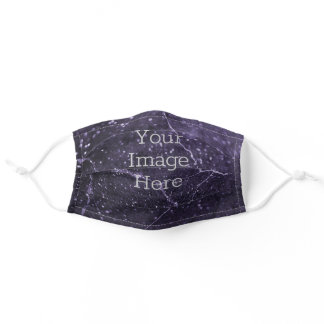 Create Your Own Metalic Purple Glitter Faux Marble Adult Cloth Face Mask