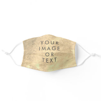 Create Your Own text Sepia watercolor Adult Cloth Face Mask