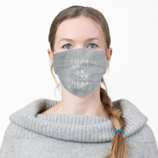 Create Your Own text watercolour grey Adult Cloth Face Mask