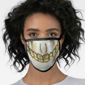 Creepy Shock Skeleton Halloween Face Mask