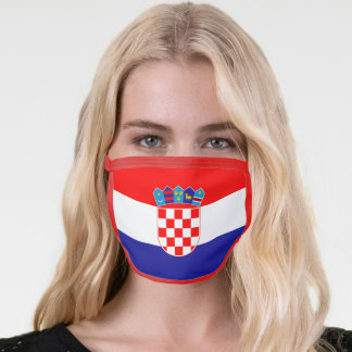 Croatia Flag Blue Red White Coat Of Arms Face Mask