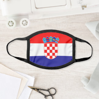Croatian flag space face mask
