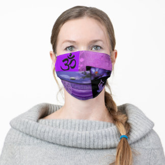 Crown Chakra Pattern Design Adult Cloth Face Mask