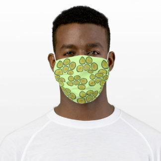 Crunchy Green Kosher Deli Sour Dill Pickle Chips Adult Cloth Face Mask