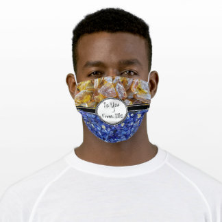 Crystals Present Amber Sapphire Love Holiday Adult Cloth Face Mask
