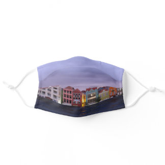 Curacao Evening Willemstad in purple Dusk Adult Cloth Face Mask