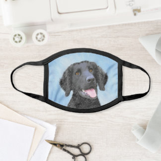 Curly-Coated Retriever Painting - Original Dog Art Face Mask