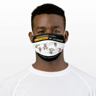 Custom Bus Driver Mask, Back to School Adult Cloth Face Mask