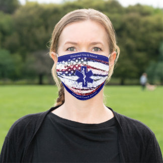 Custom City Fire and Rescue Reuseable Adult Cloth Face Mask