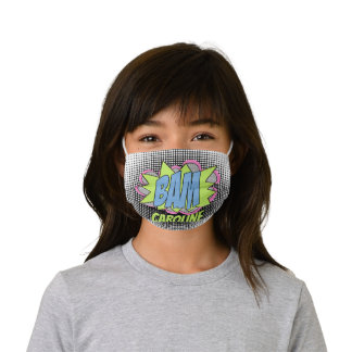 Custom Comic Book Pop Art BAM! Illustration Kids' Cloth Face Mask