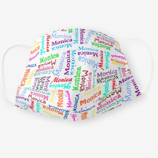 Custom Cute Colorful Your Name Pattern On White Cloth Face Mask