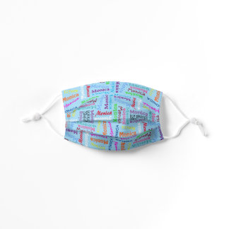 Custom Cute Colorful Your Name Pattern On White Kids' Cloth Face Mask
