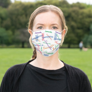 Custom Name Personalized colorful Adult Cloth Face Mask