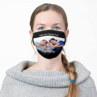 Custom Personalized Photo and Text Adult Cloth Face Mask