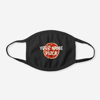 Custom pizza delivery business black cotton face mask