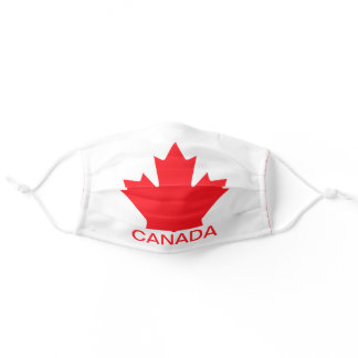 Custom Text Canada Flag Red White Aussie  Adult Cloth Face Mask
