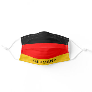 Custom Text Germany Flag Red Black & yellow  Adult Cloth Face Mask
