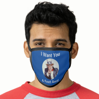 Custom Text on Uncle Sam Face Mask
