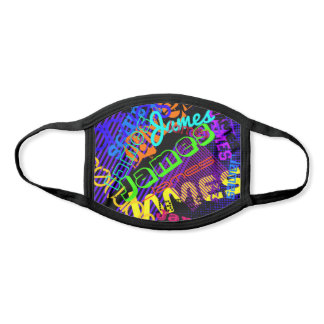 Customizable Any Name Colorful Name Partern Face Mask